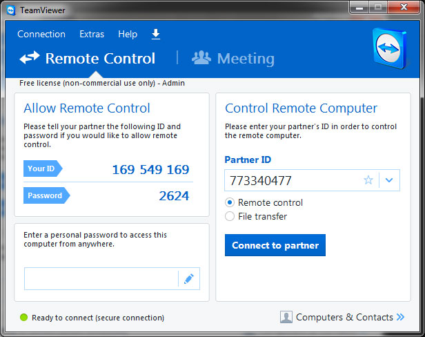 Teamviewer Remote support for webhosting, email problems etc.